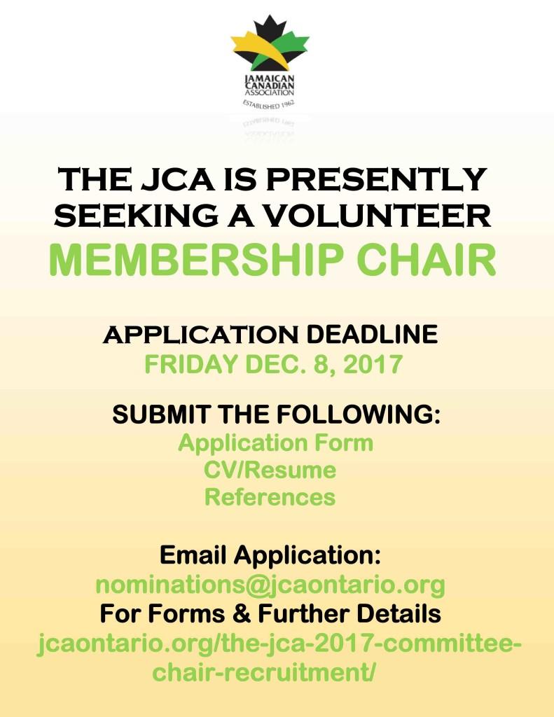 2017 JCA Membership Chair Recruitment